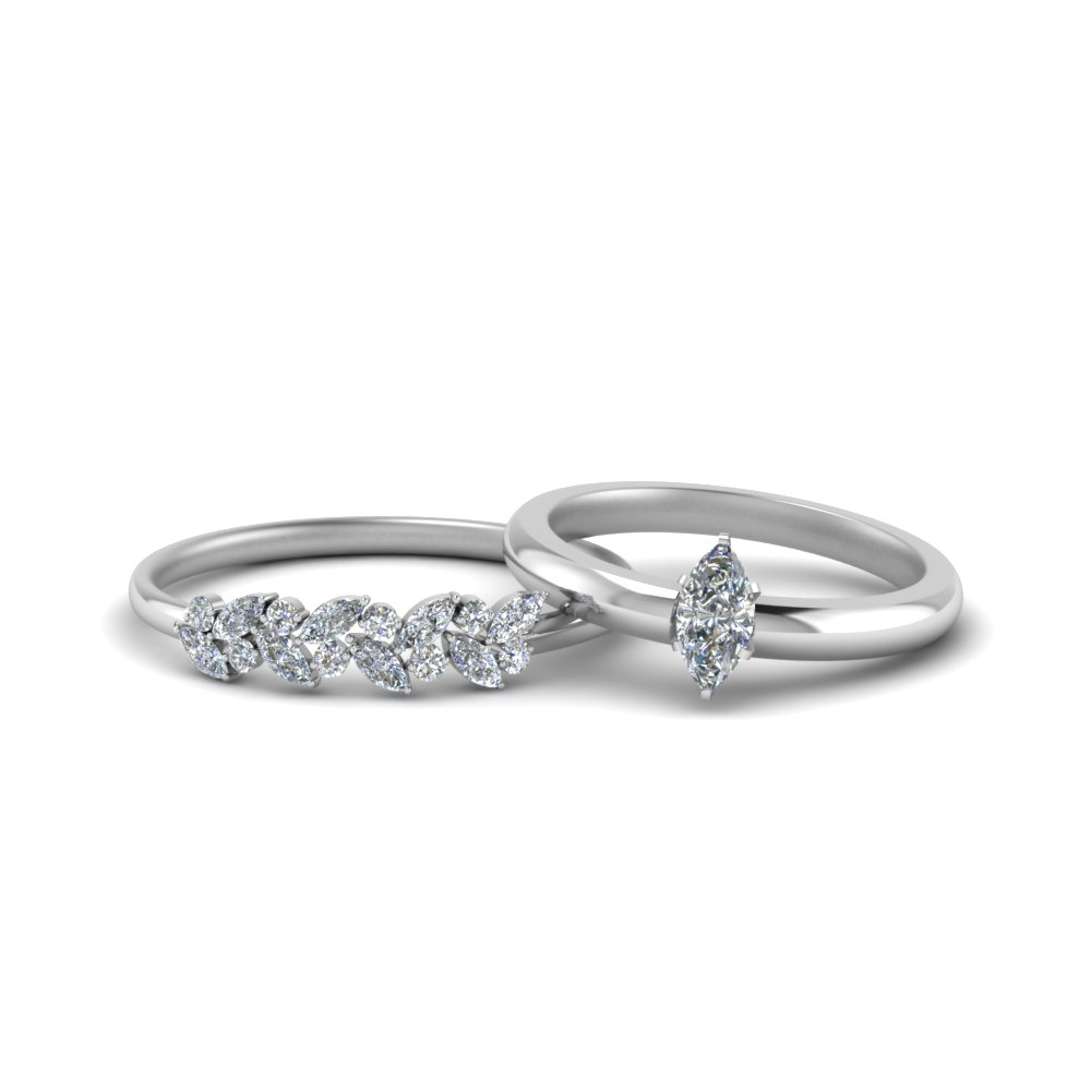 Unique Diamond Bridal Ring Set
