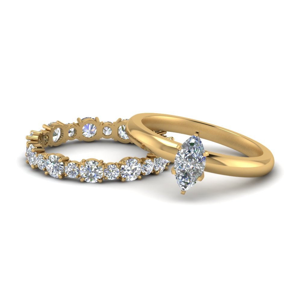 classic-marquise-cut-diamond-solitaire-with-eternity band-set-in-FD9113MQ-NL-YG