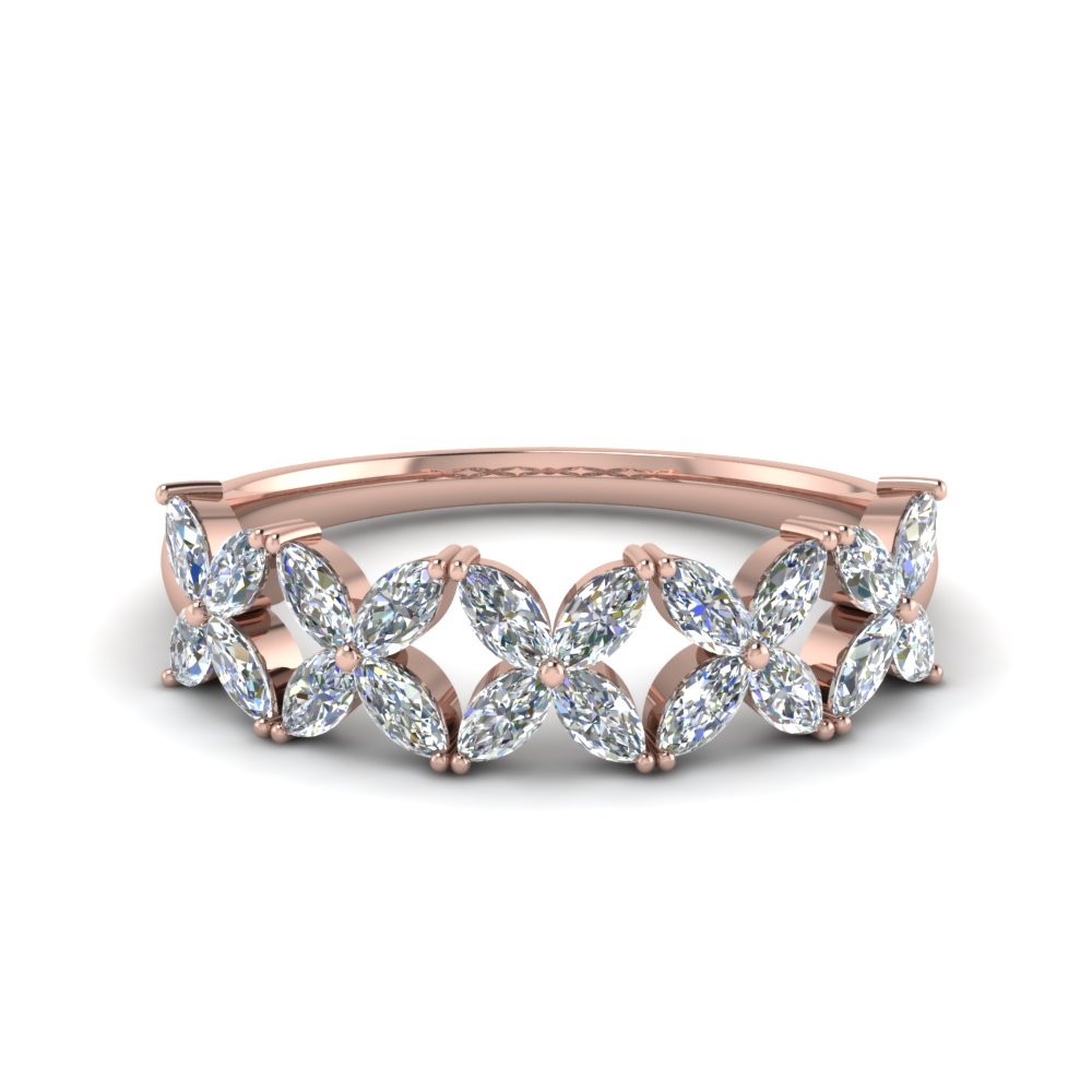 Marquise Diamond Daisy Band