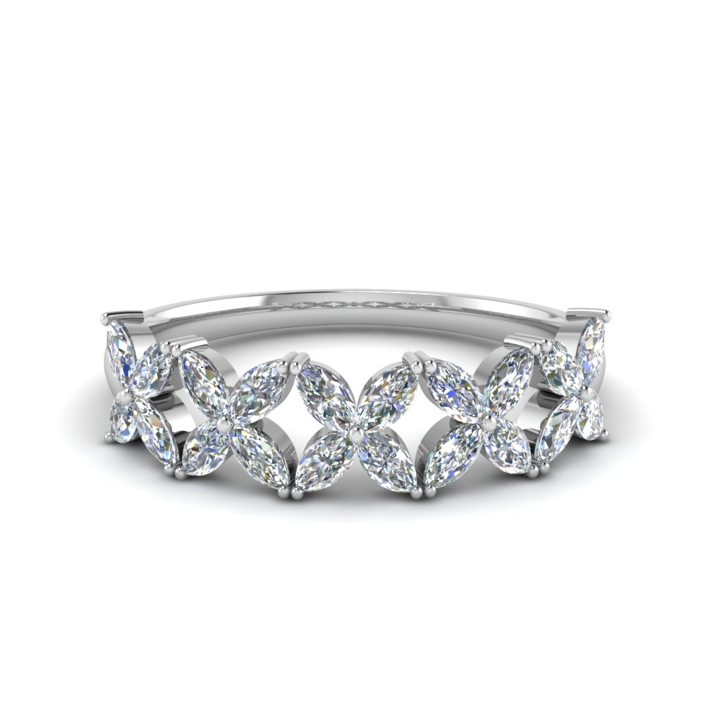 1 Ct. Marquise Diamond Women Band