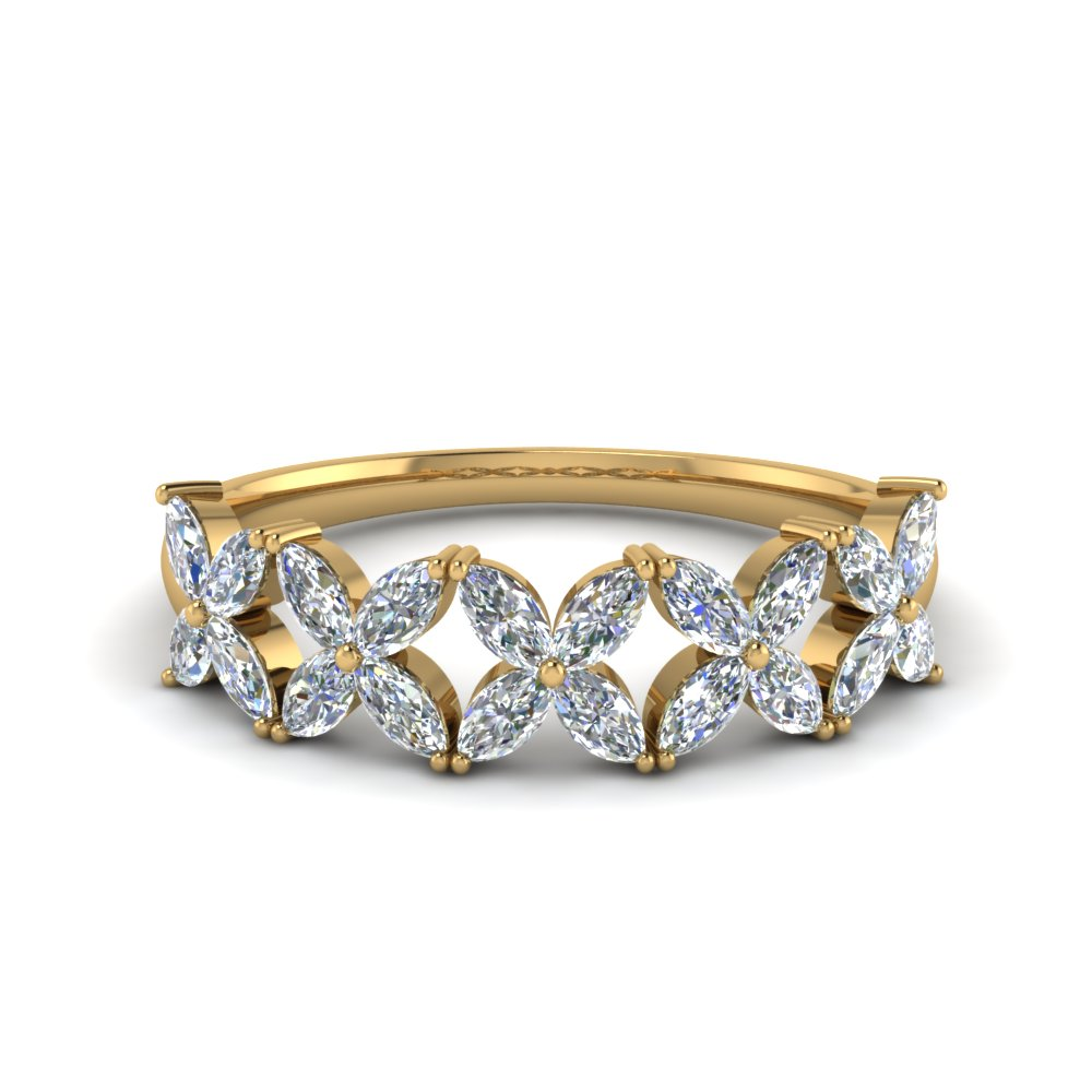 1 Ct. Marquise Diamond Daisy Band