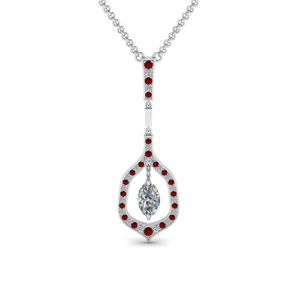 Red Ruby Pendant Women
