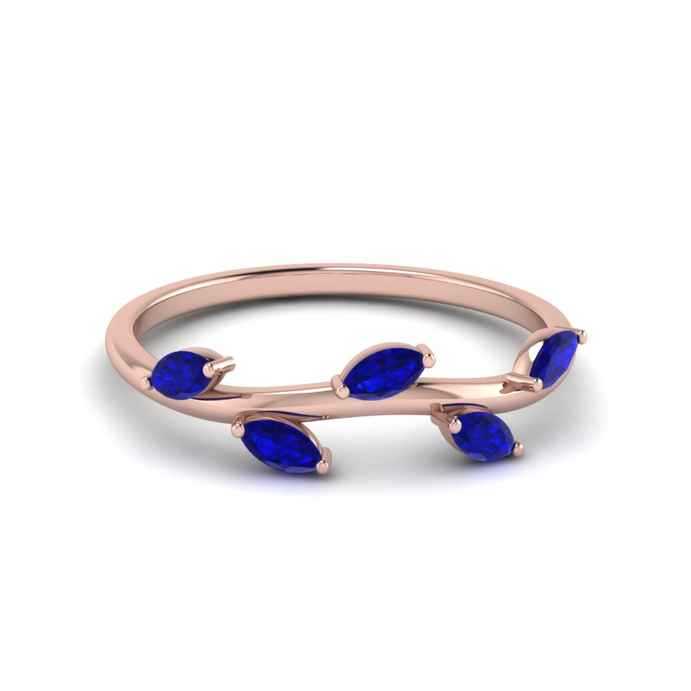Sapphire Marquise Leaf Band