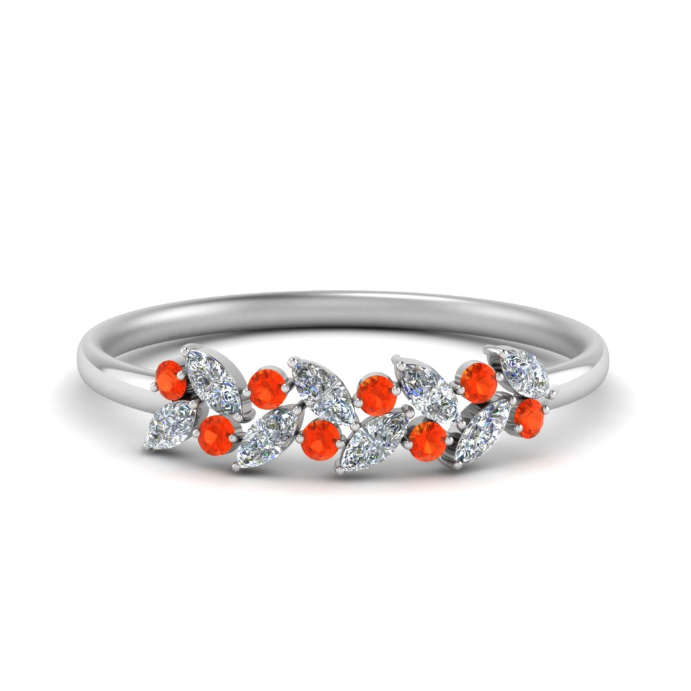 Marquise Orange Topaz Promise Band