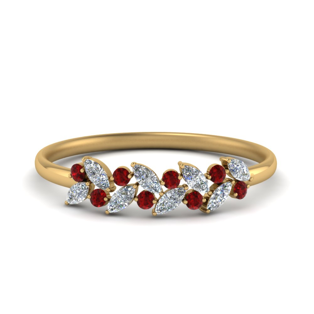 Marquise Cut Ruby Promise Ring