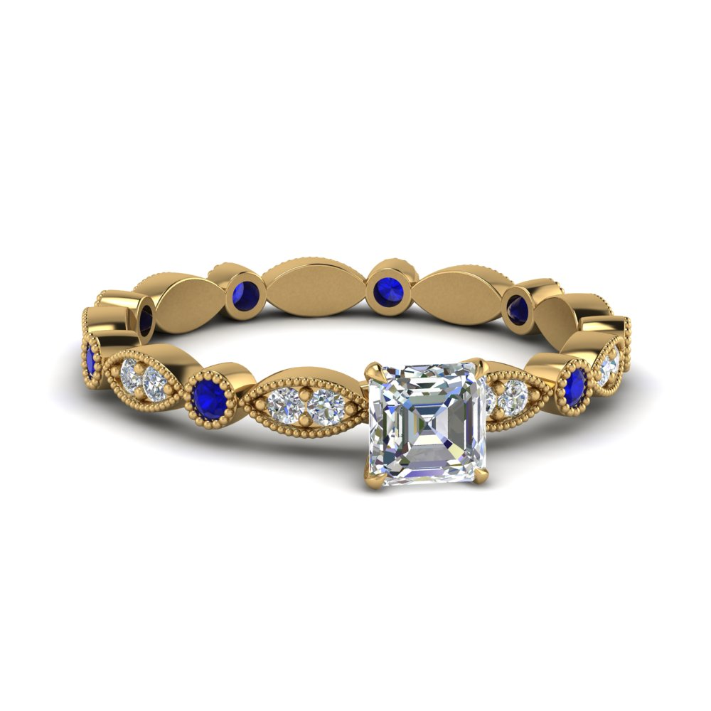 marquise-dot-eternity-asscher-engagement-ring-with-sapphire-in-FD8641ASRGSABL-NL-YG