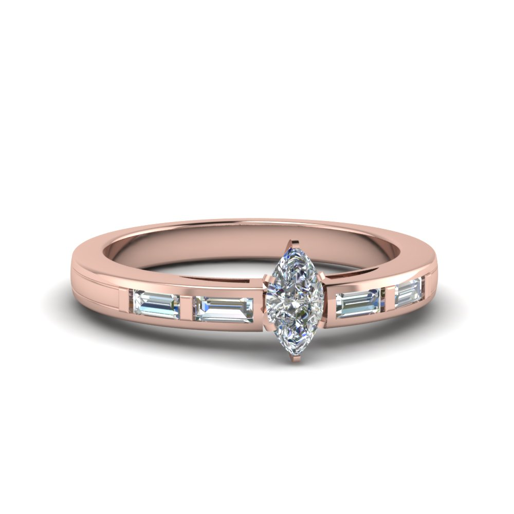 marquise shaped baguette diamond engagement ring in FDENS218MQR NL RG.jpg