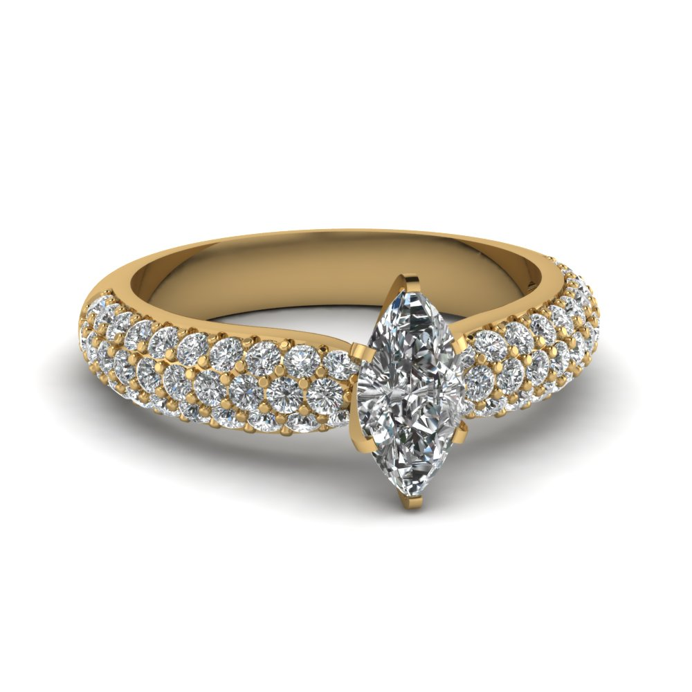 Micro Pave Marquise Cut Ring