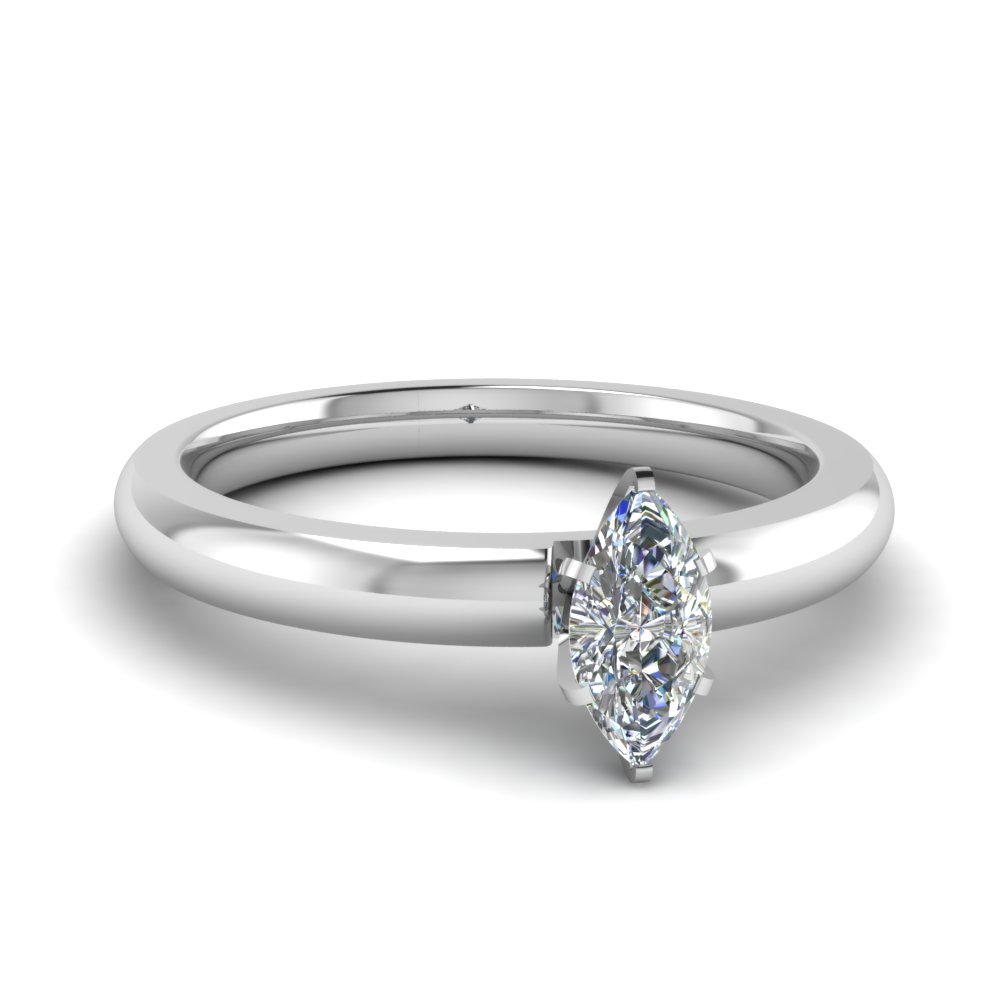 Classic Marquise Solitaire Engagement Ring