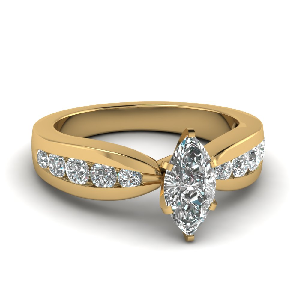 Womens Channel Set Diamond Ring