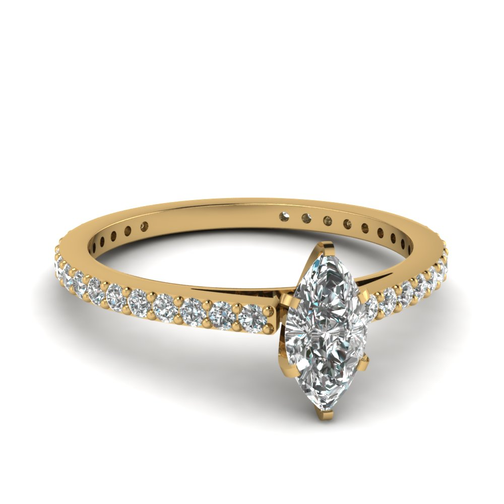 Marquise Shaped Delicate Rings