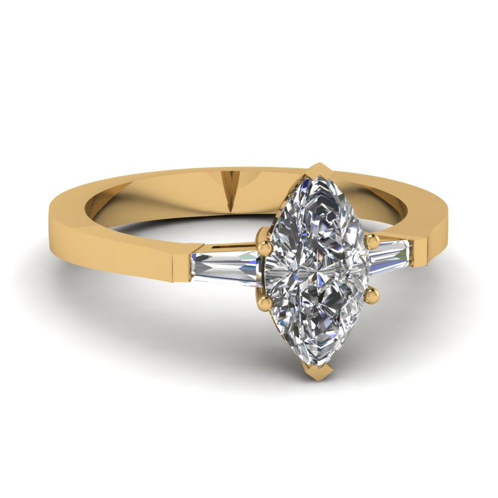 Marquise Diamond 3 Stone Ring