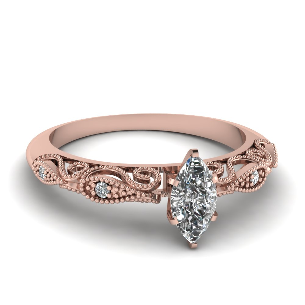 Best And Affordable Marquise Cut Engagement Rings Fascinating