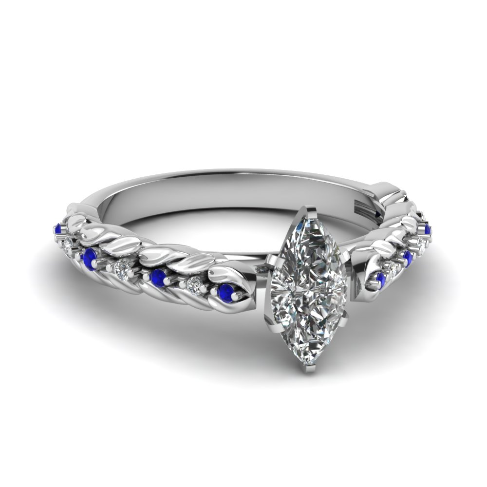 Shop For Stunning Blue Sapphire Petite Engagement Rings | Fascinating Diamonds