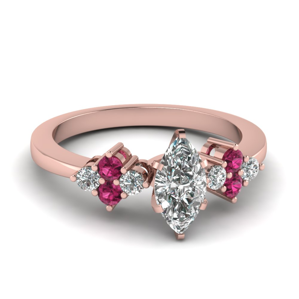 Shop For Customized Pink Sapphire Petite Engagement Rings  | Fascinating Diamonds