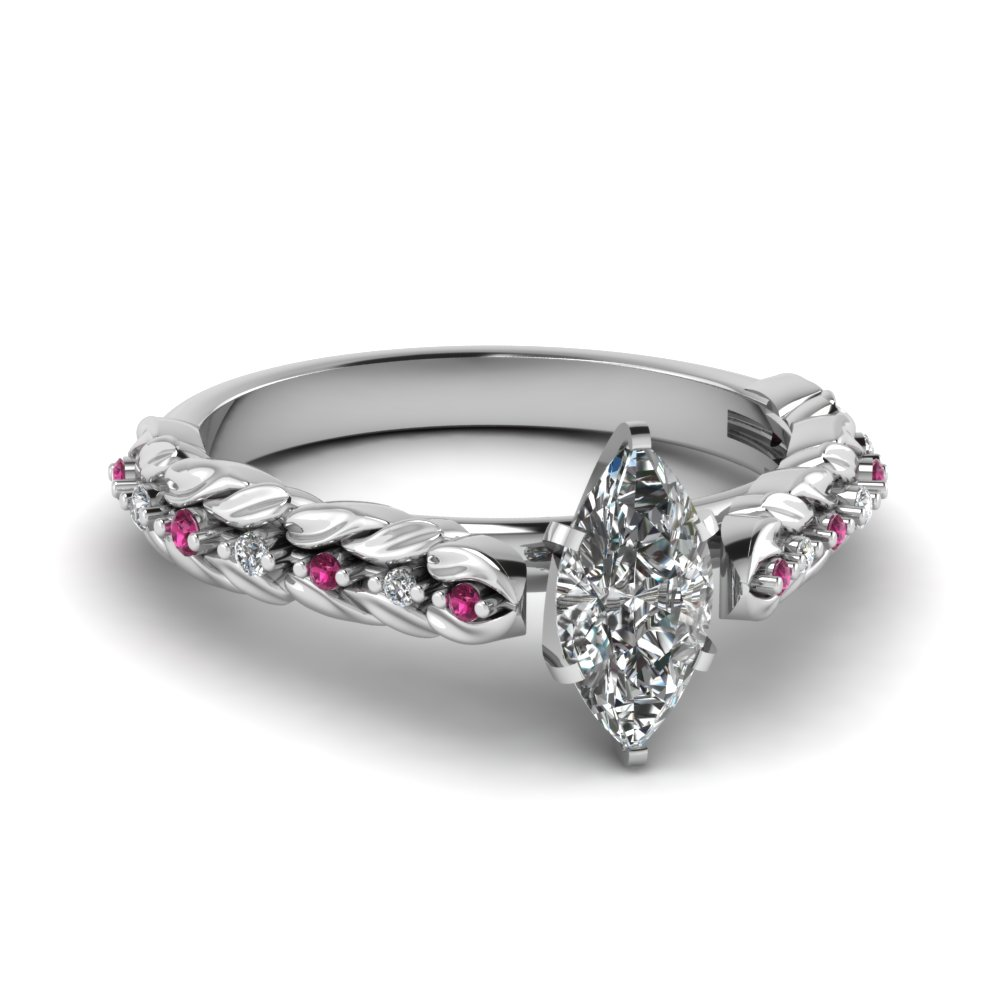 Floral Pink Sapphire Petite Ring