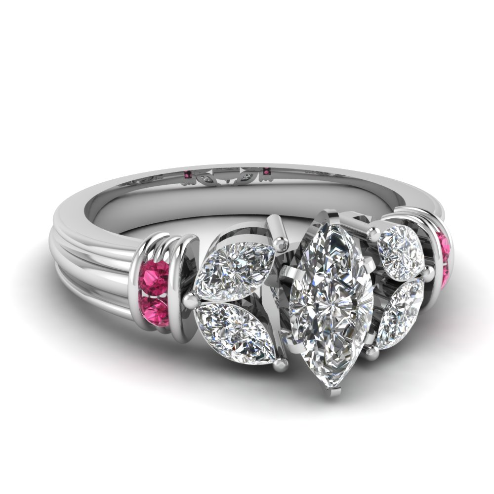 marquise-shaped-diamond-engagement-ring-with-dark-pink-sapphire-in-950-Platinum-FDENR2112MQRGSADRPI-NL-WG