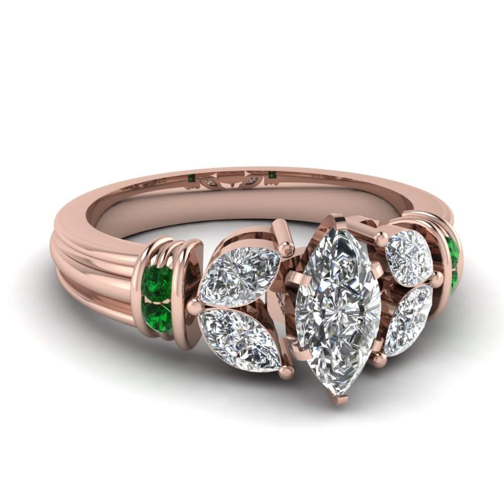 marquise-shaped-diamond-engagement-ring-with-green-emerald-in-14K-rose-gold-FDENR2112MQRGEMGR-NL-RG