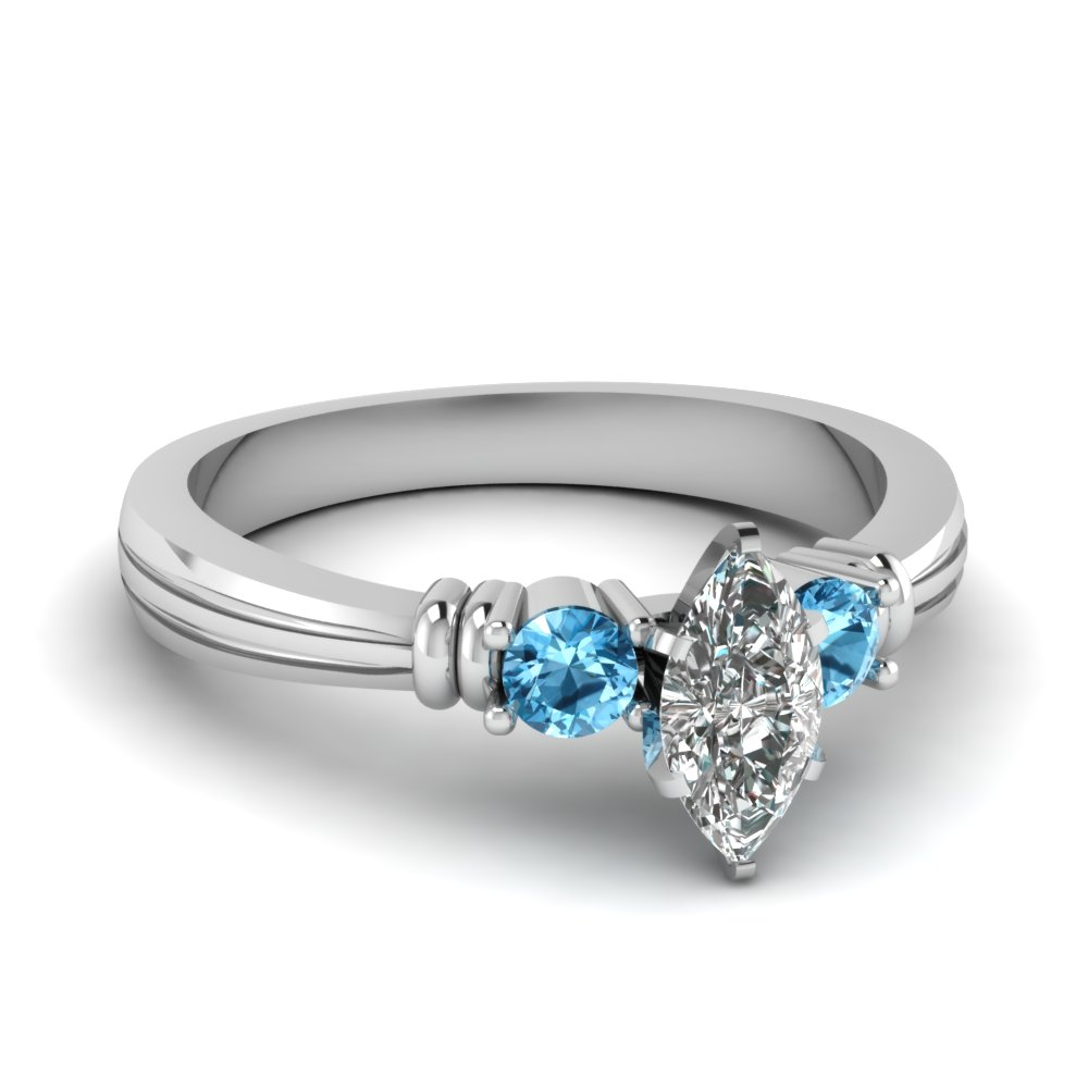 Topaz Twin Bar Ring