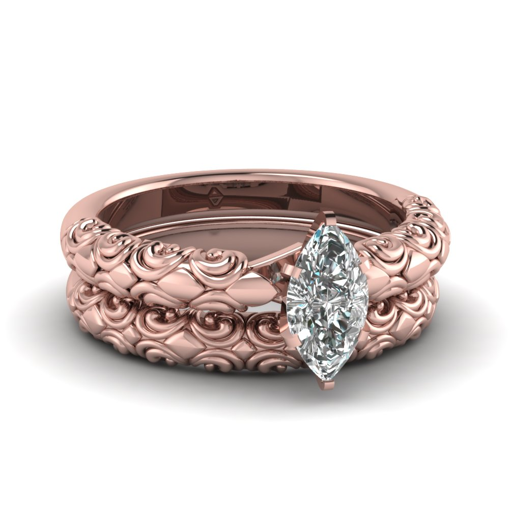 Filigree Bridal Ring Set