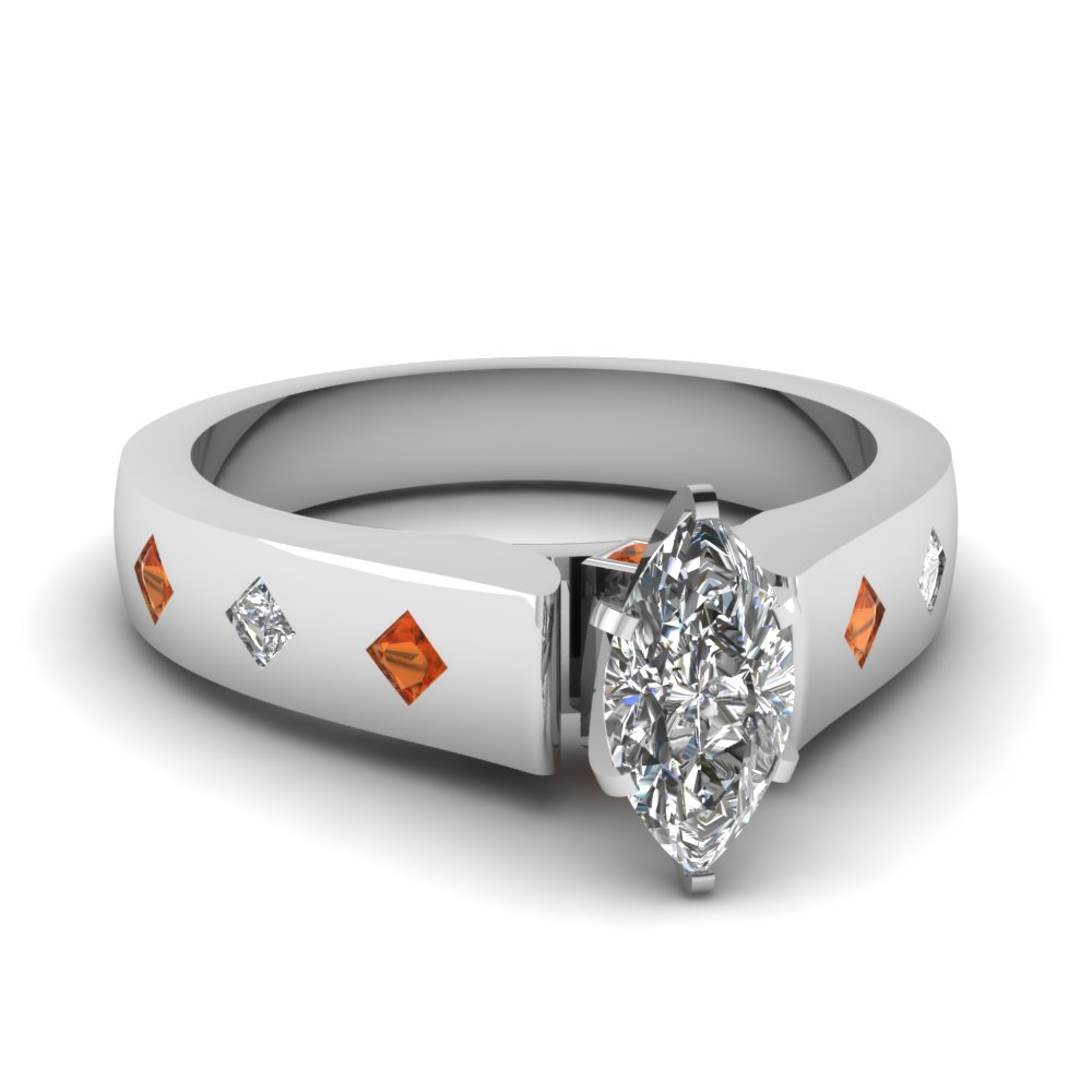 Stunning Flush Set Pear Shaped Diamond Engagement Ring
