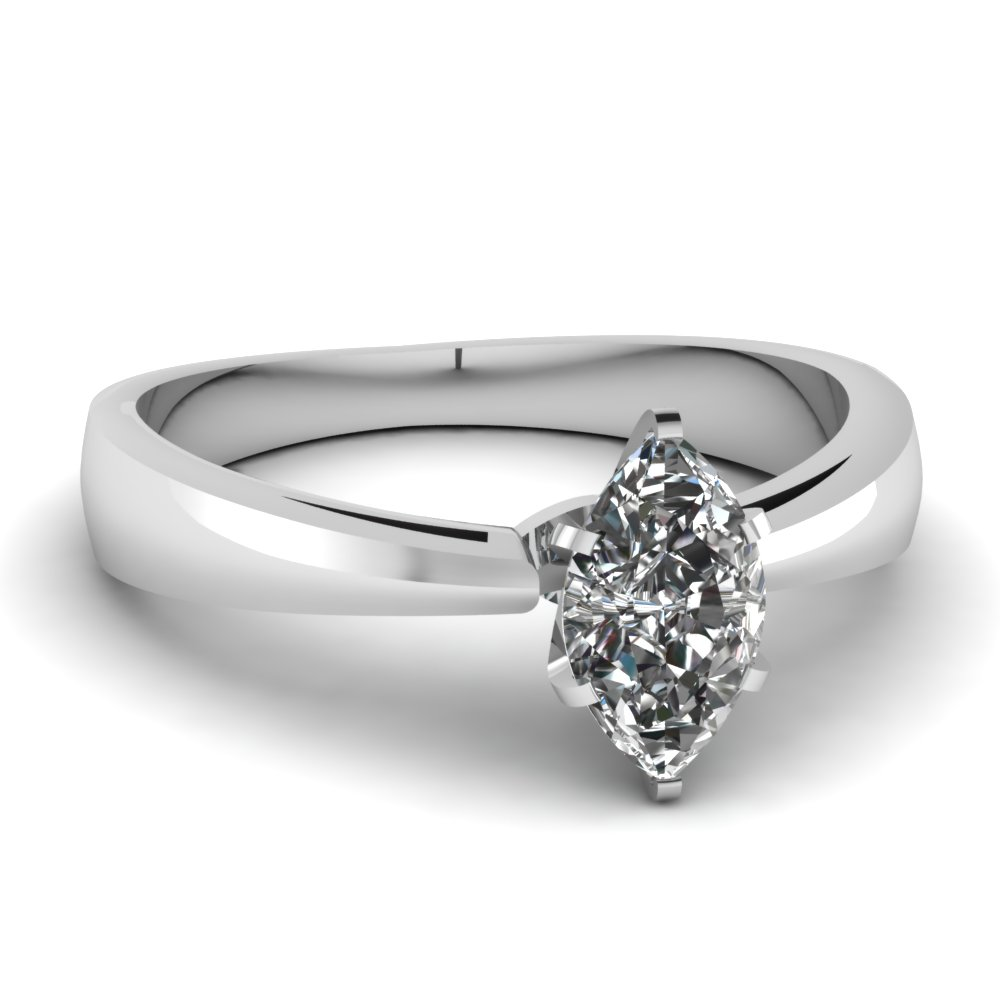 Prong Set Marquise Diamond Ring