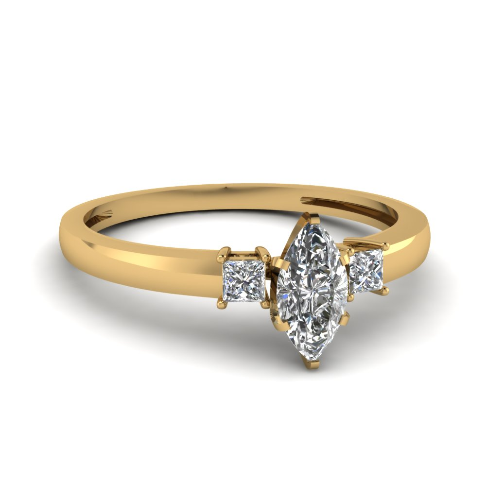 0.50 Ct. Marquise Cut Diamond Ring For Women
