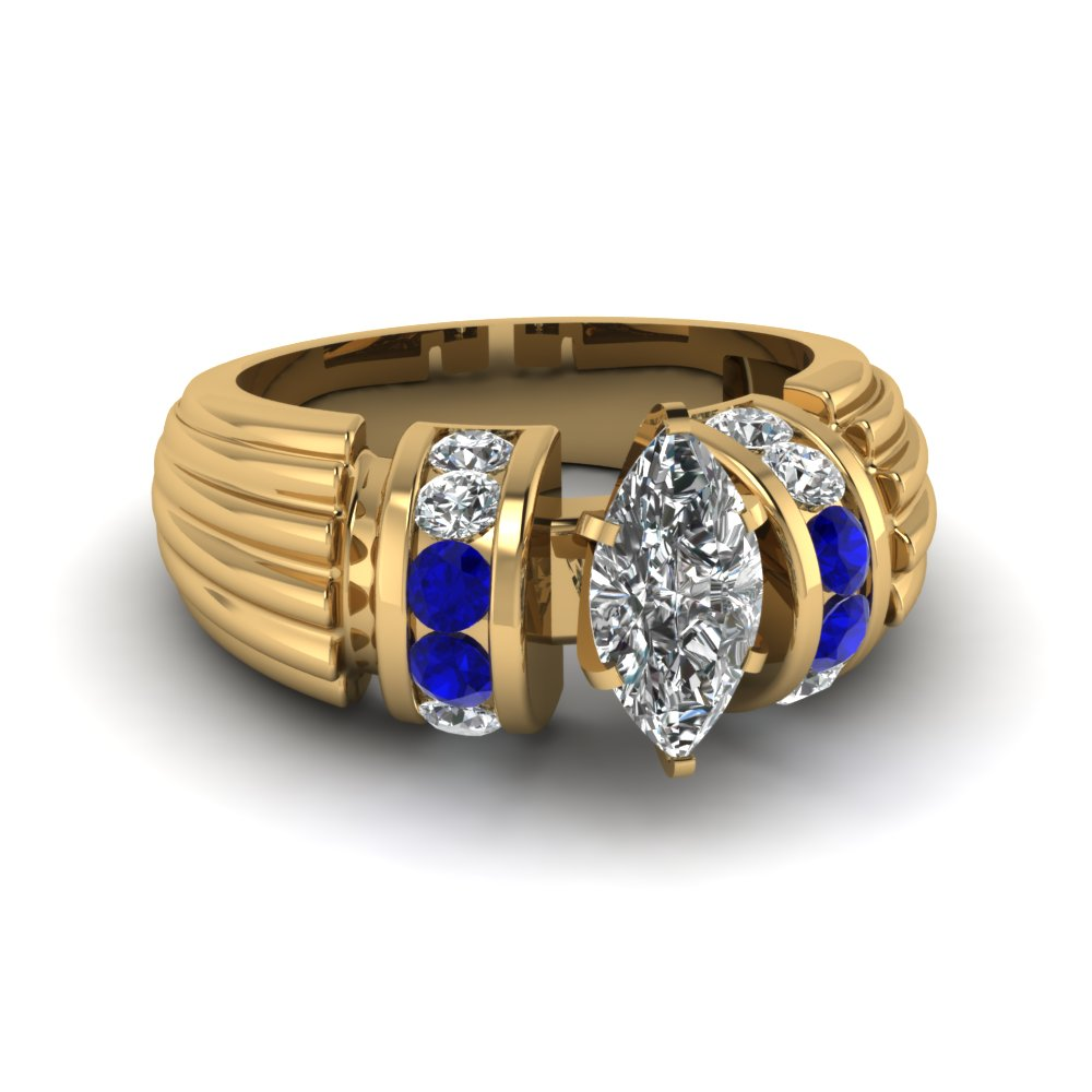 Big Sapphire Engagement Ring