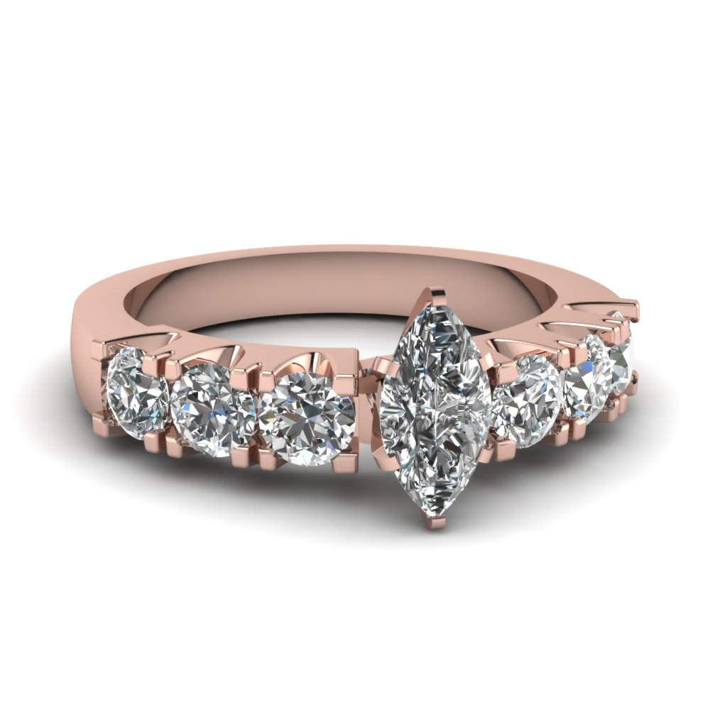 Rose Gold Marquise Engagement Ring