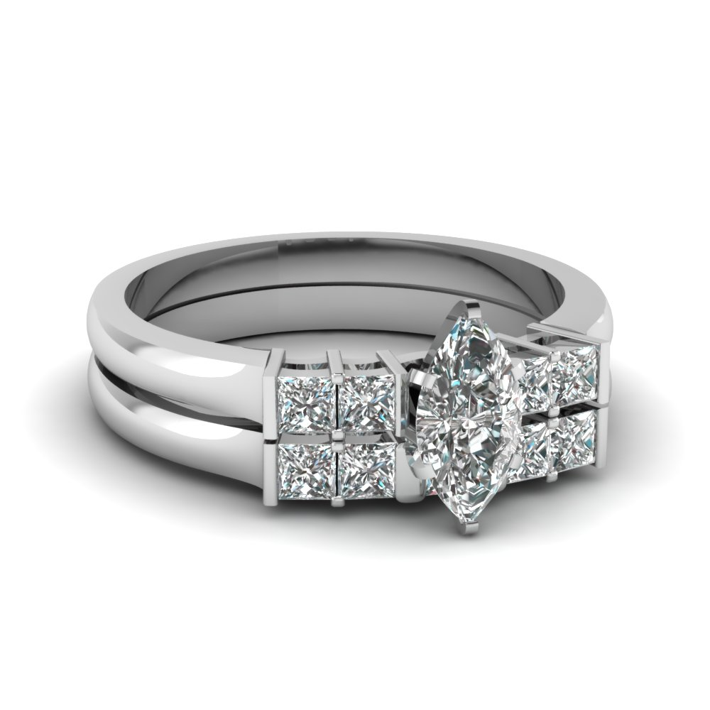 Bar Set Diamond Ring & Band