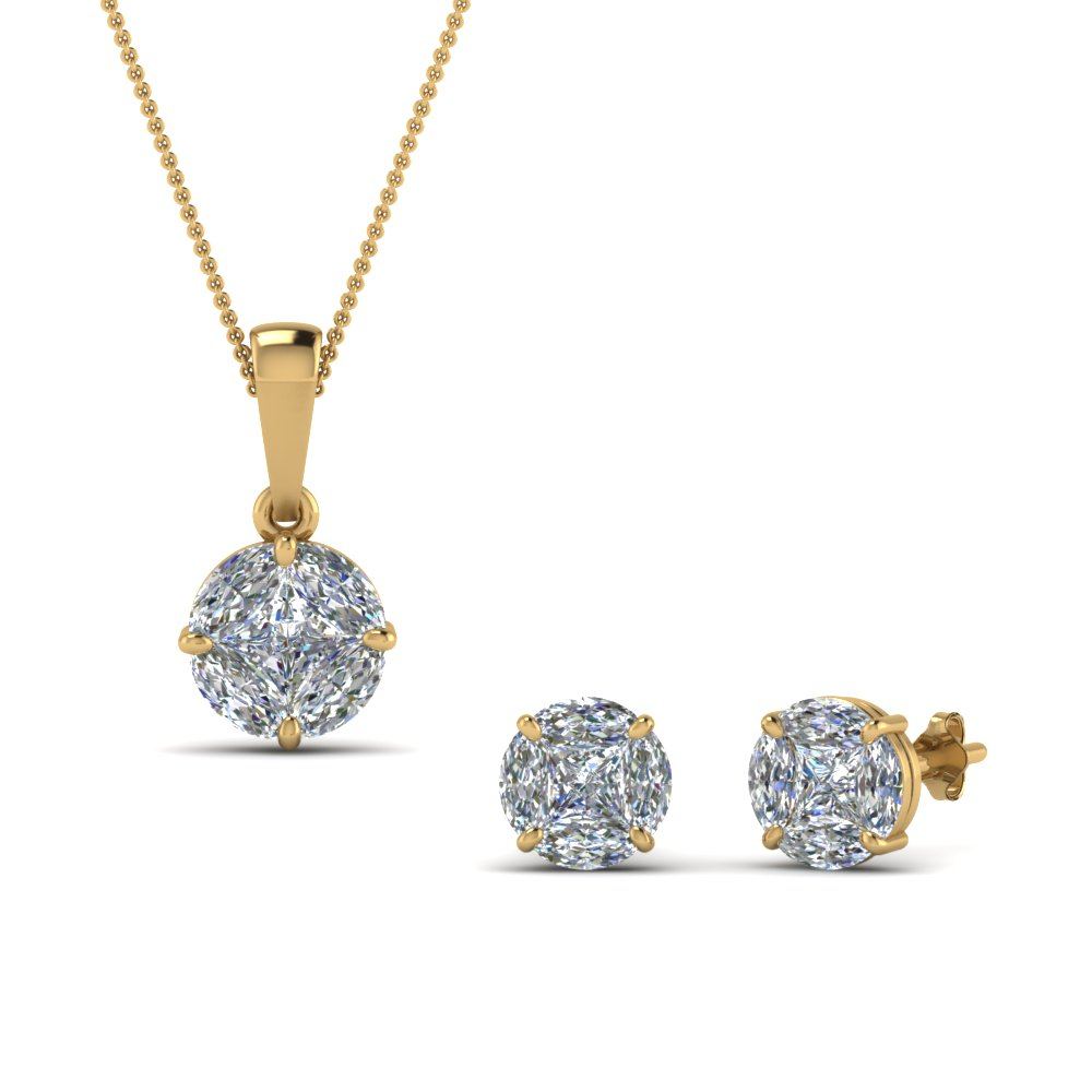 product gold or box silver morganite gift earring and free dolce watches with diamond today accent giavonna set rose shipping overstock over jewelry pendant