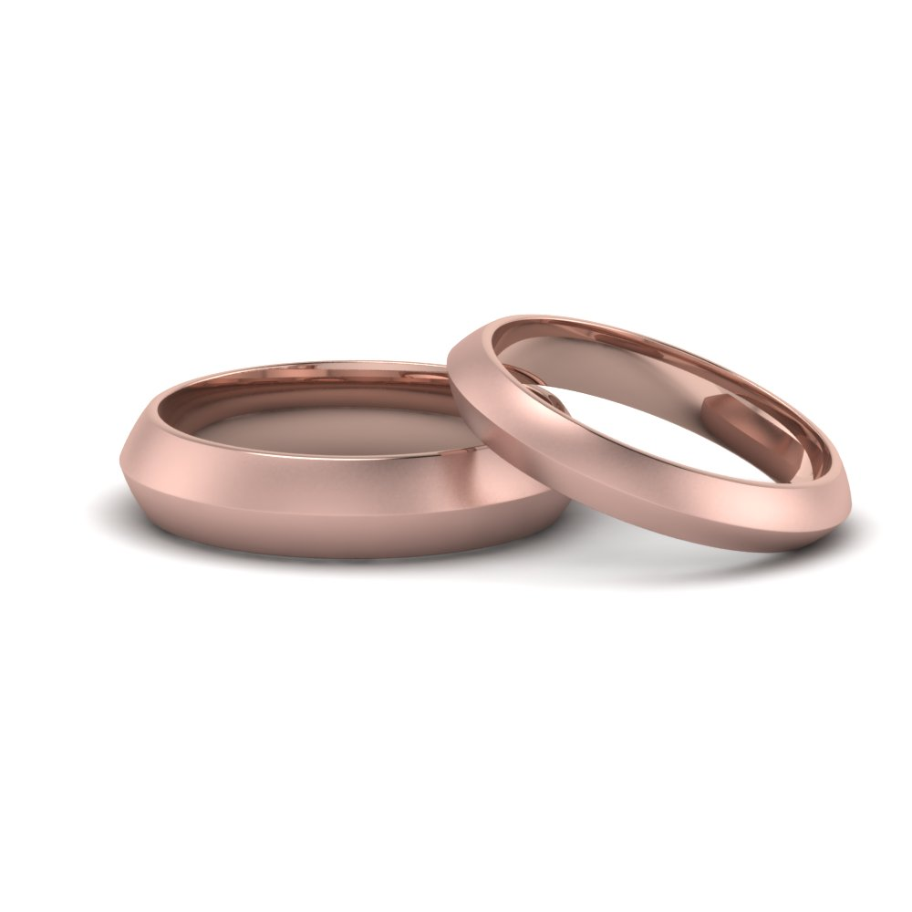 Knife Edge Wedding Band Sets