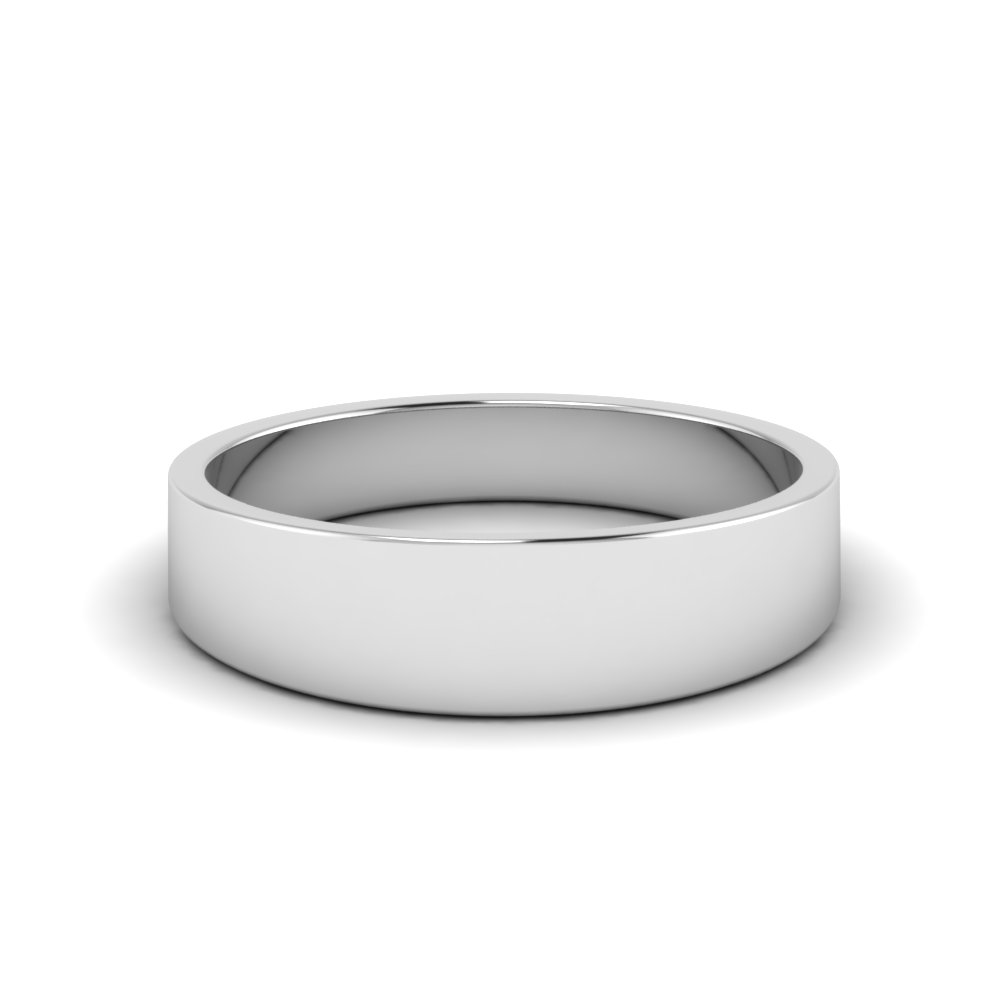 matte classic wedding band 6MM in FDFT7B6MM NL WG