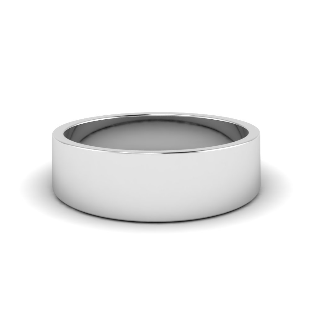 matte comfort fit wedding band 8MM in FDFT7B 8MM NL WG