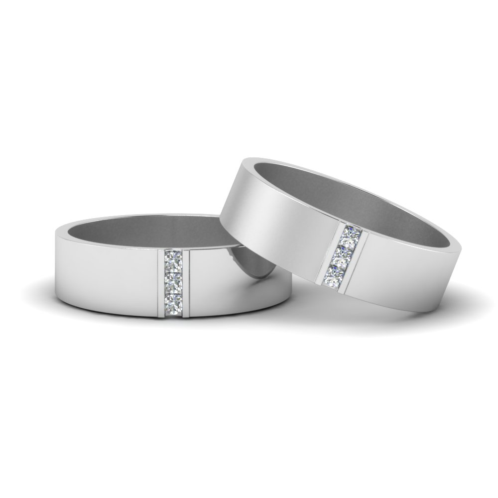 matte finish wedding diamond rings for gay in FDLG8111B NL WG