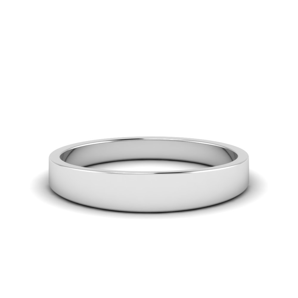 matte wedding band 4MM in 14K white gold FDFT7B4MM NL WG