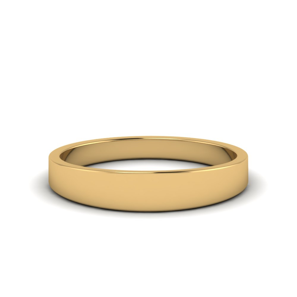 Matte Wedding Band 4MM In 14K Yellow Gold