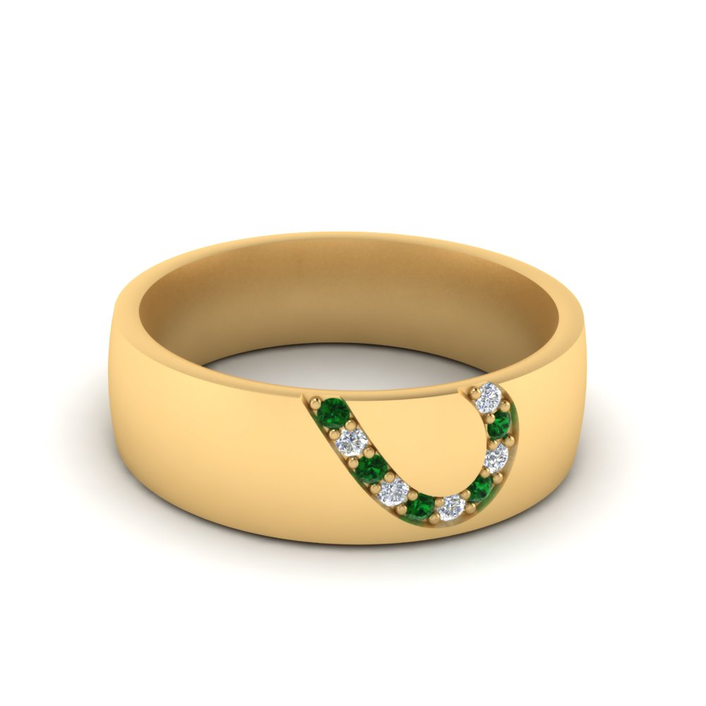 mens-anniversary-band-with-emerald-in-18K-yellow-gold-FDM1144-BGEMGR-NL-YG.jpg