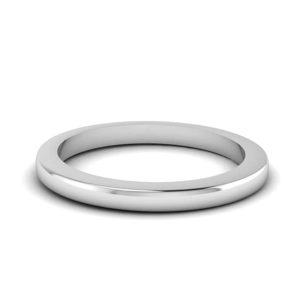 Womens White Gold Thin Band