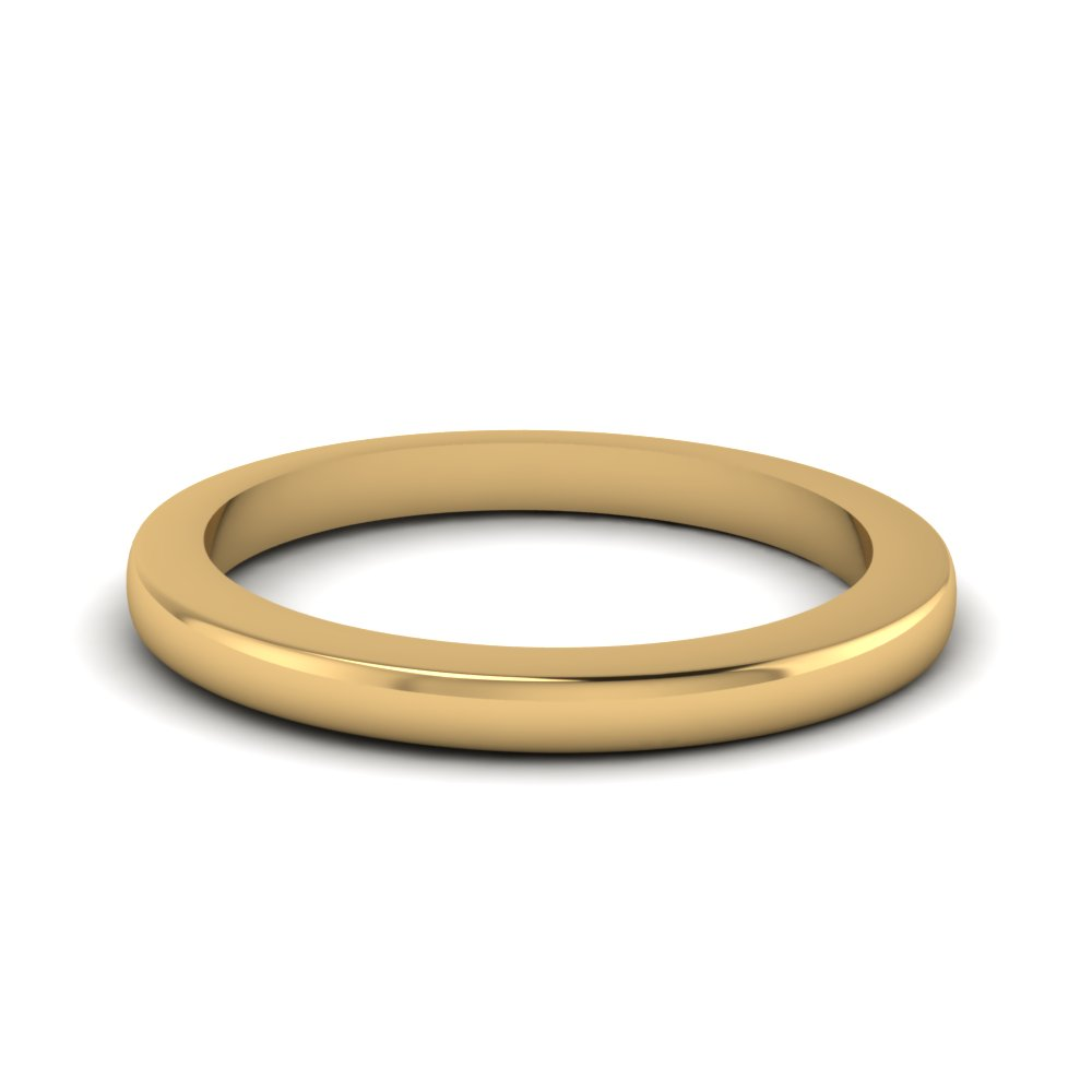 14K yellow gold thin wedding band FDENS2000B NL YG