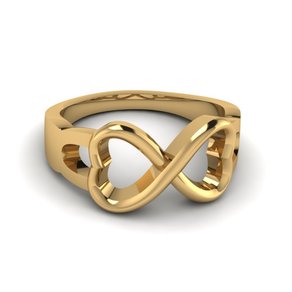 Infinity Gold Wedding Ring