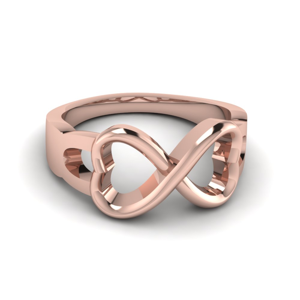 mens infinity gold wedding engagement ring in 18k rose gold