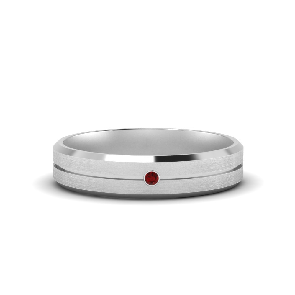 Mens Single Stone Ring