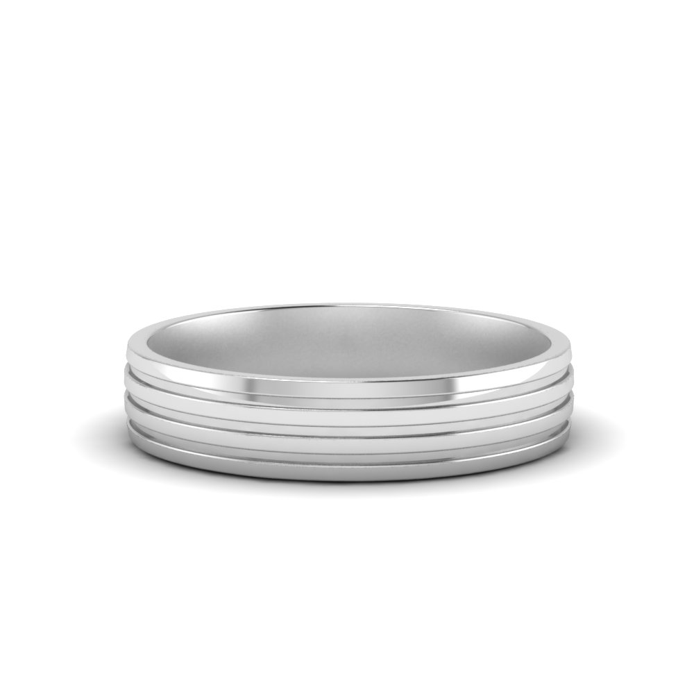 Mens Tri Inlay Wedding Ring
