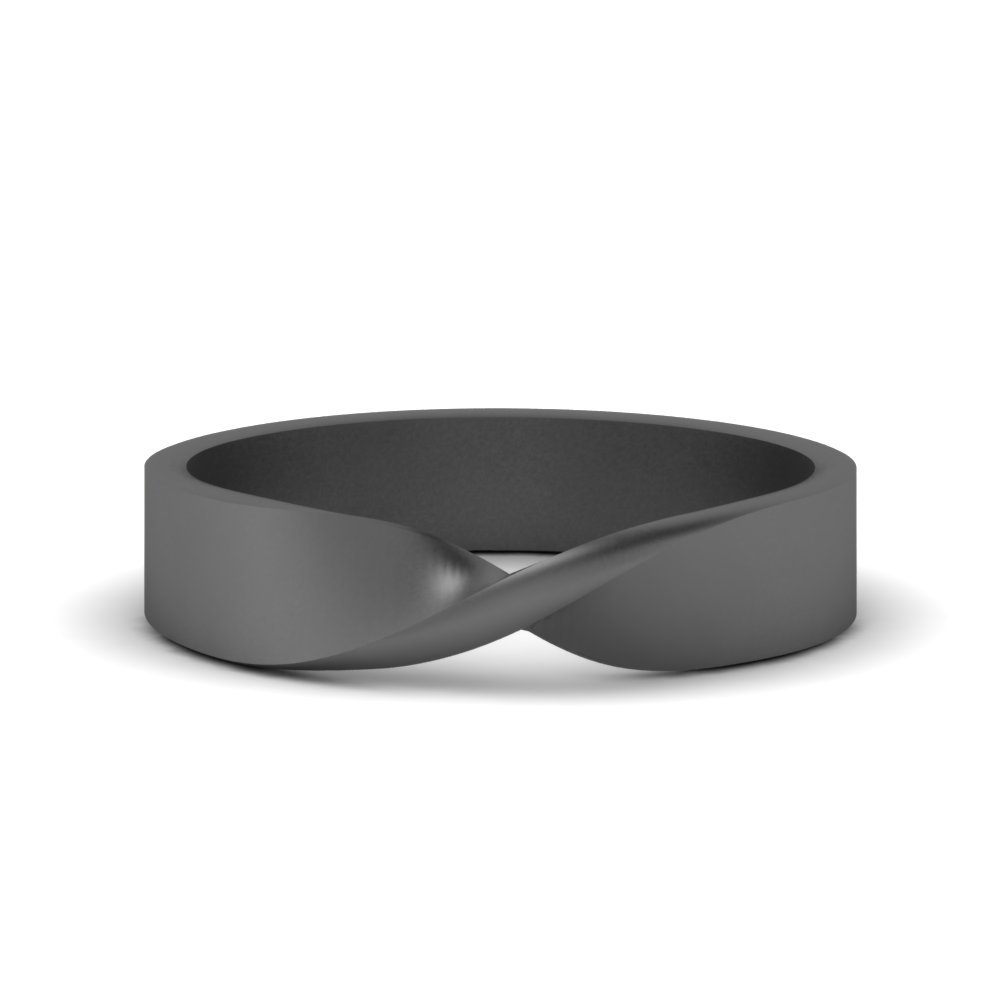 Black Gold Mens Twist Band