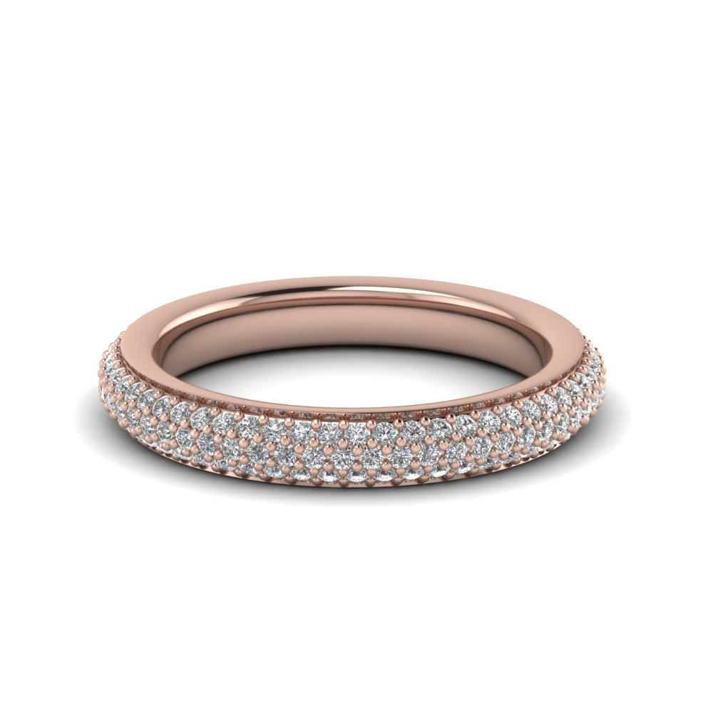 0.90 Carat Micropave Diamond Band