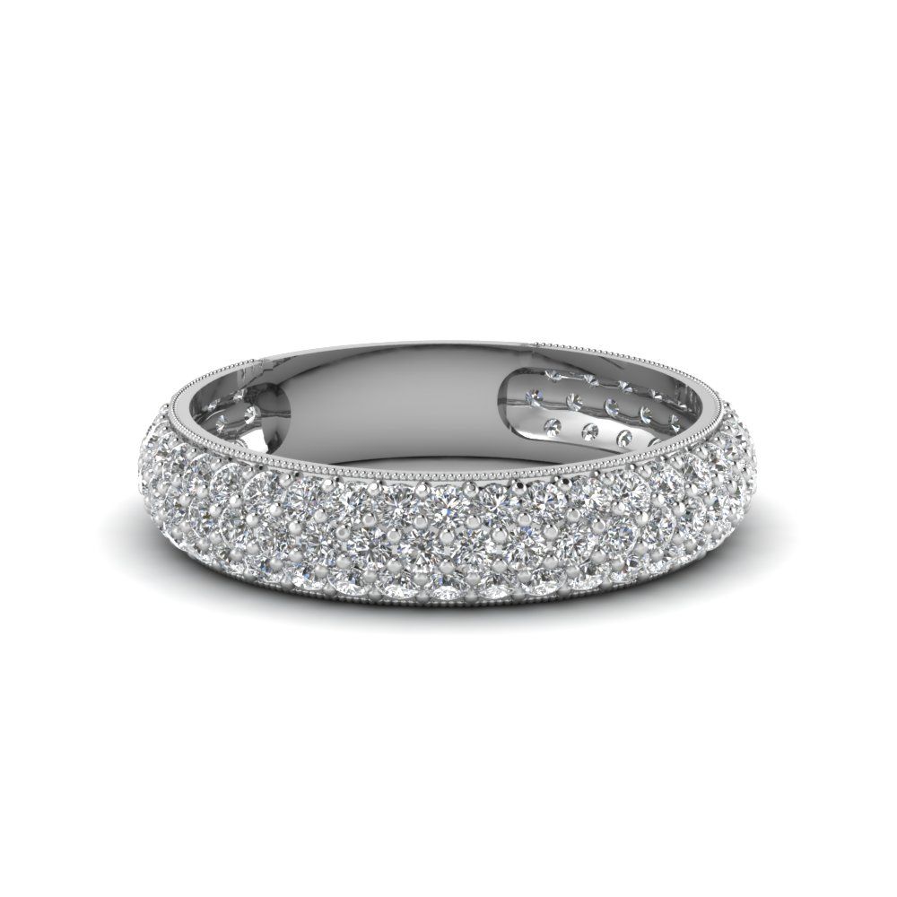 3 Row Micropave Diamond Band