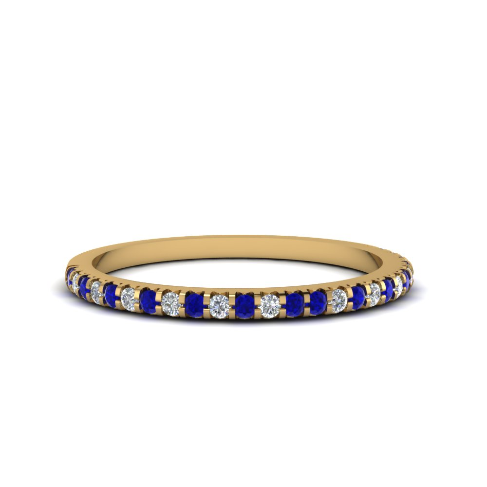 in band and diamond amp p anniversary ring tw sapphire white ct eternity bands gold