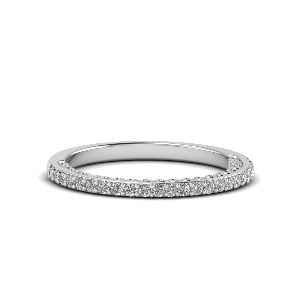 micropave thin diamond band in FD122910B NL WG