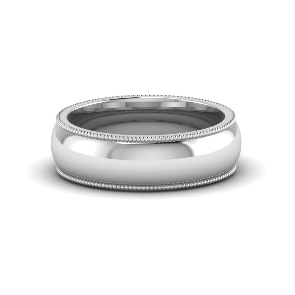 Milgrain Comfort Fit Ring